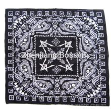 Custom Made Logo Paisley impreso bufanda promocional de algodón baratos