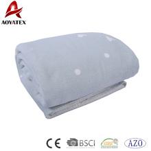 Alta qualidade personalizado coração impressão coral cobertor de lã
