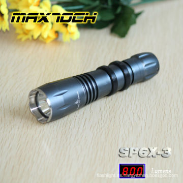 Maxtoch SP6X-3 T6 Cree táctico de alta potencia linterna
