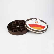Cartoon Design Kids Love Round Caja de papel de chocolate