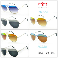 2015 mais recente design de moda e óculos de sol de metal de cor (MI224 e MI225)