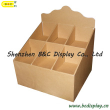Картонный дисплей поддонов, рекламная стойка для супермаркетов, ящик дисплея PDQ (B & C-D008)