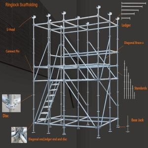 quick installation Galvanized ringlock scaffolding tower