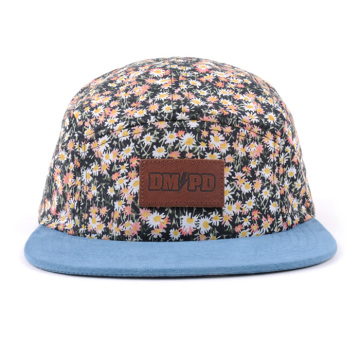 Design Your Own Floral Cotton 5 Panel Caps