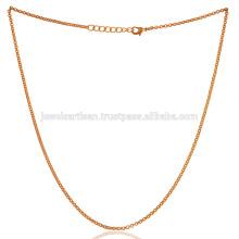18 Zoll Gold Vermeil Plain Messing Kette Für alle Zeit tragen