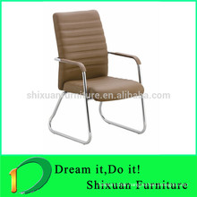 Modern comfortable leather upholster chair with armrest