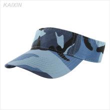 2016 high quality custom design blue camo visor