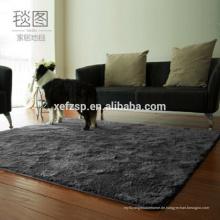 Haus Pläne moderne Polyester Teppich Muster Teppich 100% Polyester gedruckt wasserdicht weichen zotteligen Teppich