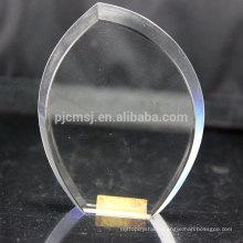 Presse-papier en cristal blanc de conception de mode pour la gravure de laser