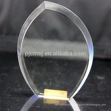 Paperweight de cristal da placa do projeto da forma para a gravura do laser