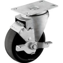 Roues en PP à usage moyen avec frein à bande de roulement