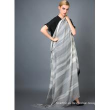 Bufanda de cachemira del tinte del hilado de Alashan, textura suave / lujosa