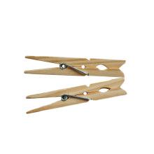 Ropa barata del paño de bambú del hogar del precio del OEM que cuelga las clavijas / los clips de la pinza