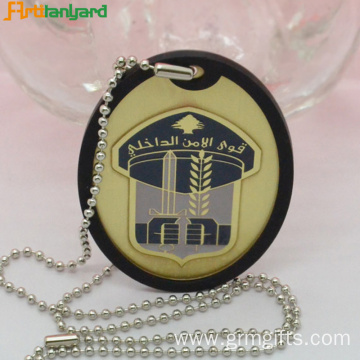 Customized Iron Dog Tag With Chain