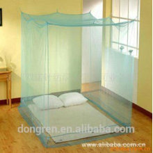 Insecticida rectangular 100% poliéster tratado cuadrado mosquitero para cama de matrimonio