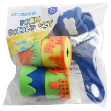 Enfants eva jouet en caoutchouc rouleau d'encre timbre
