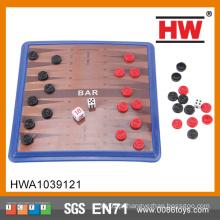 Hot Sale Cheap Criança Kids Board Jogo Plástico Backgammon Set