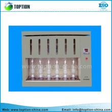 150ml Extractor de soxhlet de vidrio W condensador y extractor, con matraz de 6x150ml