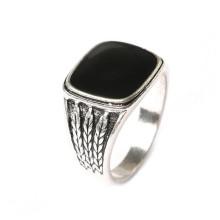 Gemstone quadrado fazer jóias de moda barato Alloy Rings