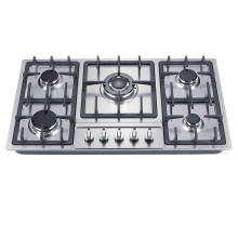 Cocina de gas con quemadores a gas de 5 quemadores