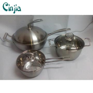 Hochwertiger Edelstahl 6PCS Kochgeschirr Set Küchenartikel