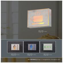 Lampe de mur de signal de sortie de Taliet en aluminium et de PVC de haute qualité