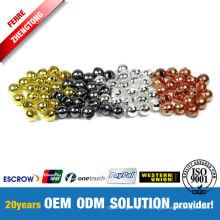 Perles à fente tungstène or / argent / cuivre