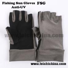 Luvas de sol luva geleira proteção UV pesca com mosca luvas de pesca ao ar livre