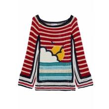 100% хлопок ручной работы женский зимний свитер