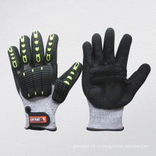Ударопрочная Нитрила ладонь ТПР Защитные перчатки-5057
