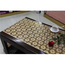 Elegante 50cm Breite Gold PVC lange Spitze Tischdecke in der Rolle
