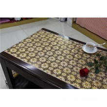 Elegant 50cm Width Gold PVC Long Lace Tablecloth in Roll