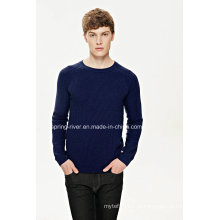 New Cotton Pullover Knit Sweater para os homens
