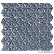 3D graue Glasmosaikfliesen für Küchen-Backsplash
