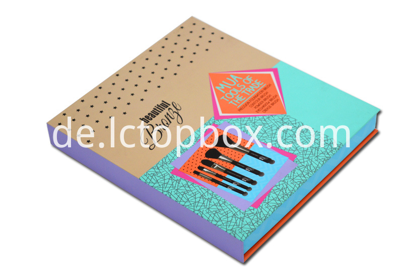 Cosmetic brush packaging paper boxes