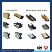 Profilé en aluminium Factory Direct Supply pour porte de placard