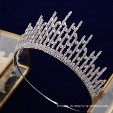Nueva moda de alta calidad AAAzircon CZ Princess Headpiece Wedding Tiaras Crown