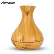 Aromacare Vase Style Design Wood Grain Aroma Diffuser 400ml Essential Oil Diffuser