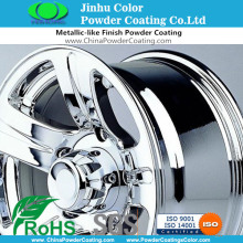 Polyurethane powder paints coatings for wheel rims