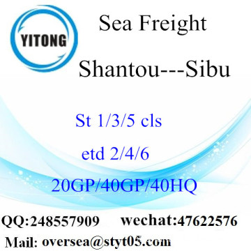 Shantou Port Sea Freight Shipping Para Sibu