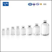 Vaso de injeção moldada transparente para produtos farmacêuticos