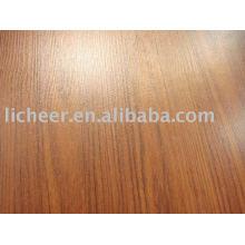 Pequena superfície em relevo / pintar piso laminado / preço barato de piso laminado