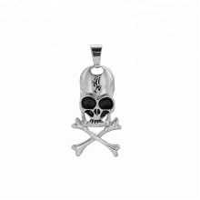pendant-229 xuping jewelry fashion  black gun color cross skull head pendant