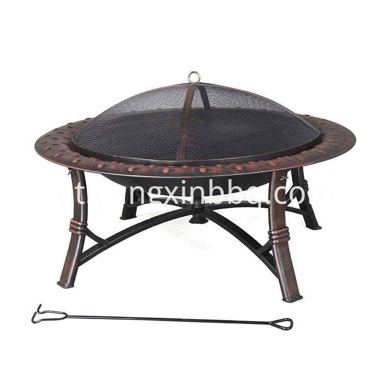 Garden Treasure 35 Inch W Blackhigh Temperature Painted Steel Wood Burning Fire Pit