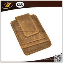 Grande venda de couro puro porta-cartões de bolso