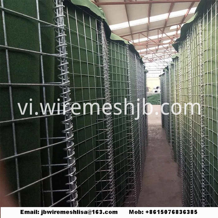 Defensive Bastion Hesco Barriers For Military Sand Wall