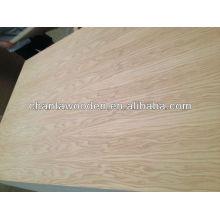 Contraplacado de madeira de carvalho de 3 mm de alto grau para móveis e decoração