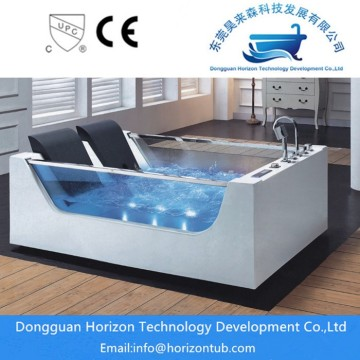Glass jacuzzi whirlpool tub