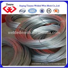 Suave y de alto zinc revestido de alambre galvanizado Anping TianYue fábrica