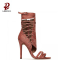 2015 woman sandals new design ankle wrap sandals new modern sandals